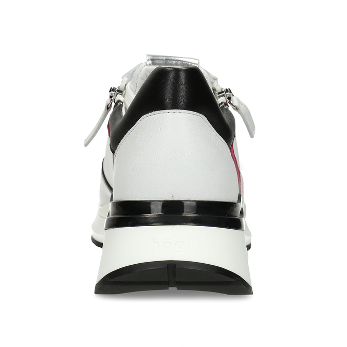 Bílé kožené dámské Chunky tenisky hogl, bílá, 544-1619 - 15
