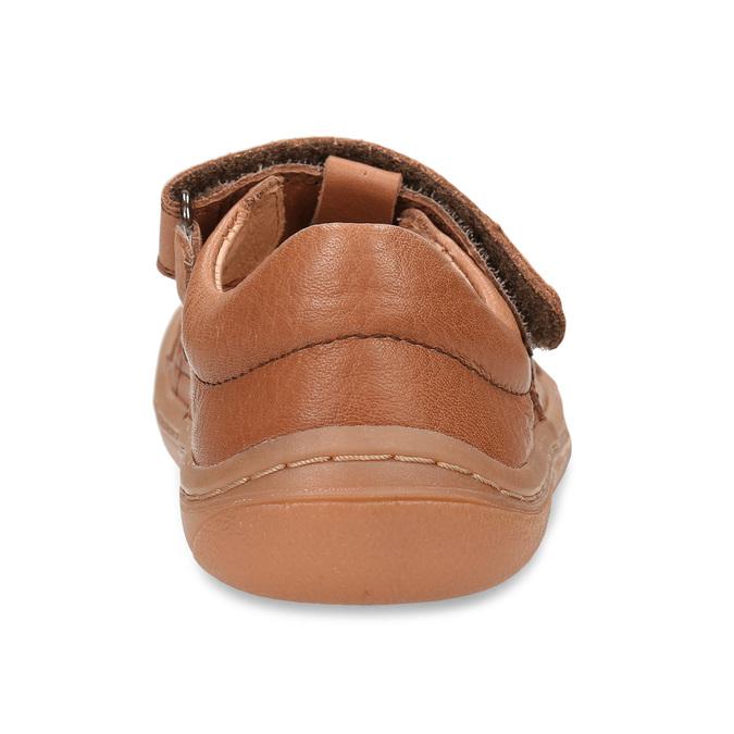 Hnědé dětské kožené sandály na suchý zip froddo, hnědá, 264-4610 - 15