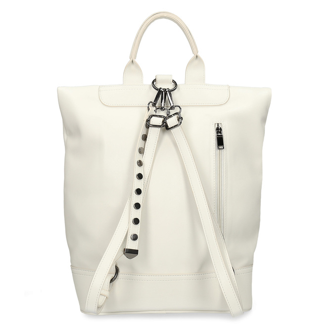 Bílý dámský městský batoh bata, bílá, 961-1640 - 16