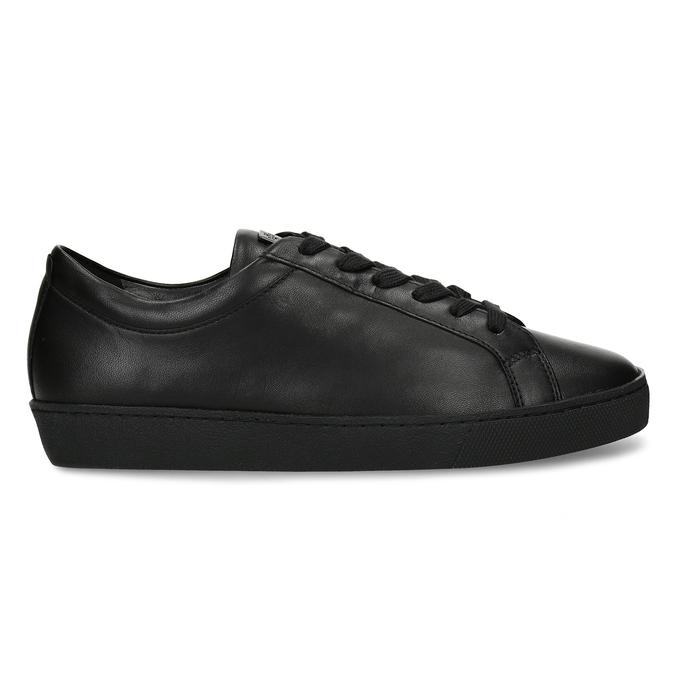 Černé kožené dámské tenisky hogl, černá, 544-6606 - 19