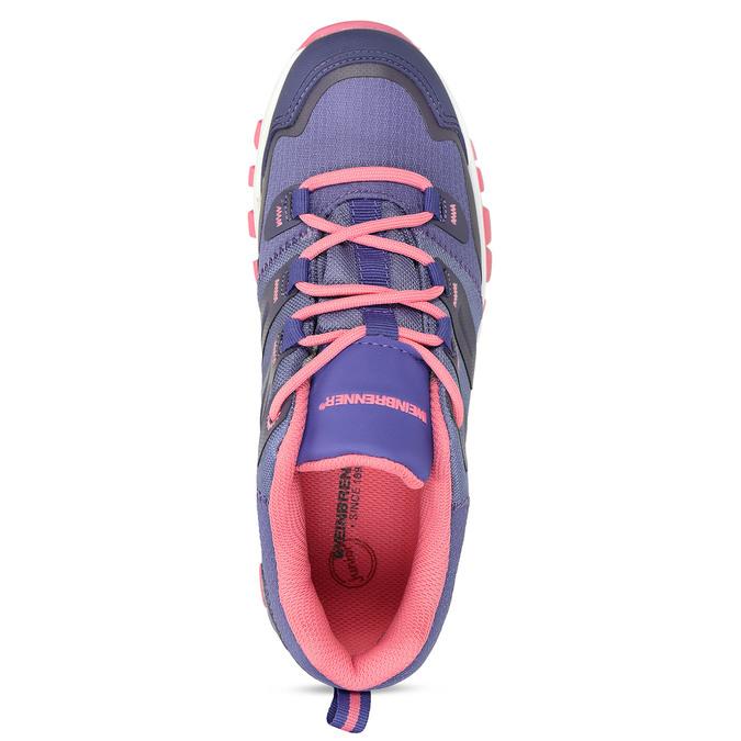 Fialové dětské sportovní sneakersky s růžovou podešví weinbrenner, fialová, 429-9624 - 17