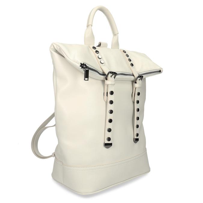 Bílý dámský městský batoh bata, bílá, 961-1640 - 13