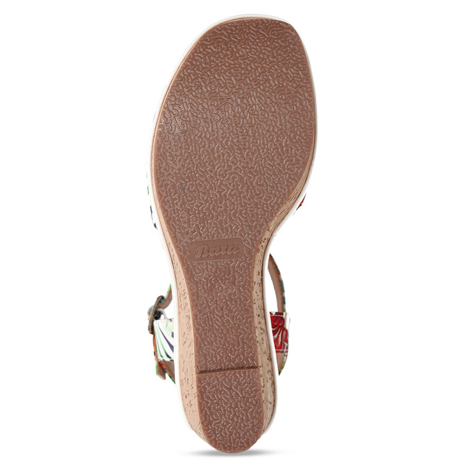 Dámské sandály na platformě bata, bílá, 759-1606 - 18