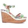 Dámské sandály na platformě bata, bílá, 759-1606 - 19