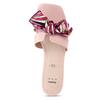Růžové dámské pantofle s barevnou mašlí bata, růžová, 559-5600 - 17