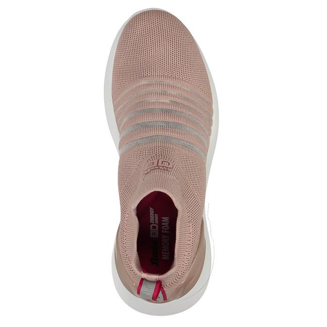 Růžové dámské slip-on tenisky bata-3d-energy, růžová, 539-5602 - 16