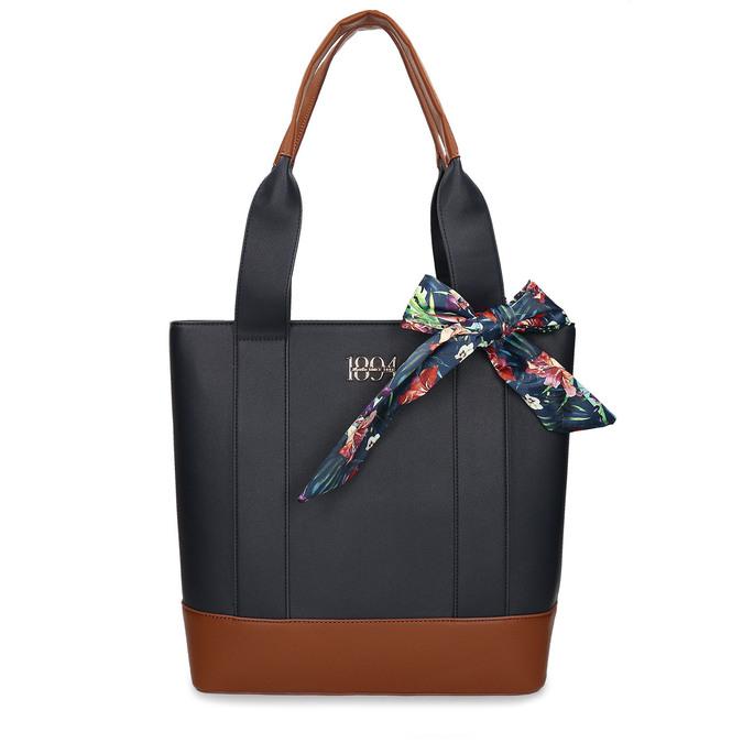 Tmavě modrá dámská kabelka střední velikosti bata, modrá, 961-9502 - 26