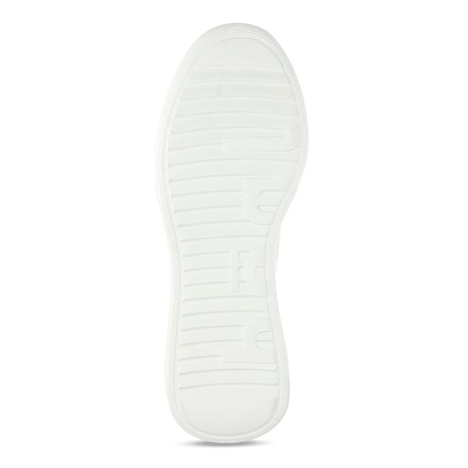 Bílé dámské kožené tenisky na vysoké podešvi hogl, bílá, 544-1610 - 18