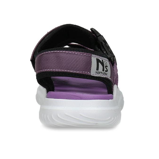 Fialové dívčí sandály na suchý zip north-star, fialová, 469-9631 - 15