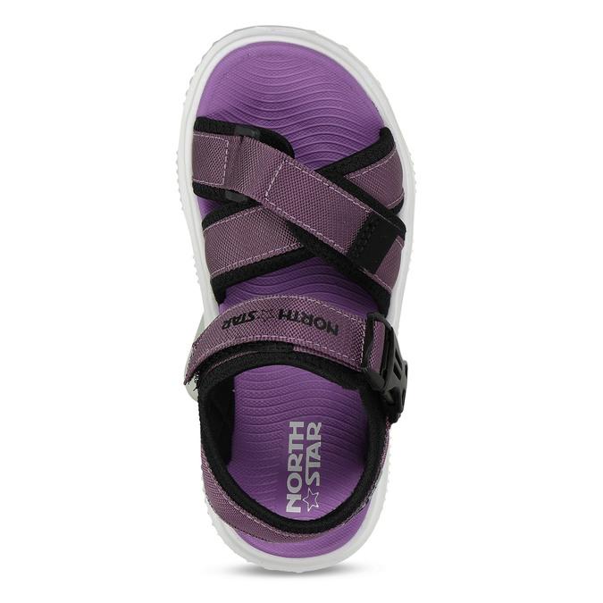 Fialové dívčí sandály na suchý zip north-star, fialová, 469-9631 - 17