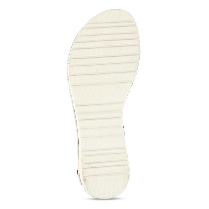 Kožené černé dámské sandály s metalickým vzorem bata, černá, 564-6619 - 18