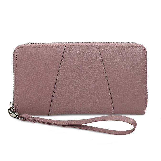 Růžová kožená dámská peněženka bata, růžová, 944-5609 - 26