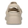 Béžové dámské kožené sandály na robustní podešvi vagabond, béžová, 569-1600 - 15