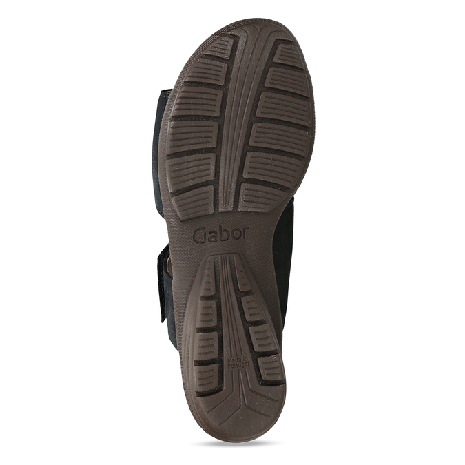 Černé dámské kožené pantofle gabor, modrá, 666-9602 - 18