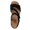 Černé dámské kožené sandály gabor, černá, 663-6600 - 17