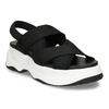 Černé dámské sandály na robustní podešvi vagabond, černá, 569-6600 - 13