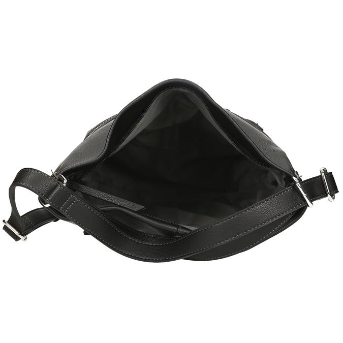 Černá dámská kabelka přeměnitelná na batoh gabor, černá, 961-6645 - 15