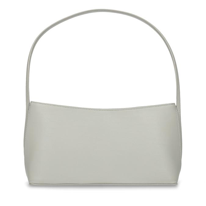 Šedá jednoduchá kožená dámská kabelka vagabond, šedá, 964-1638 - 16