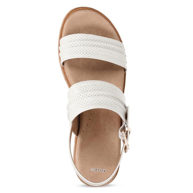 Bílé dámské sandály na vyšší platformě bata, bílá, 561-1615 - 17