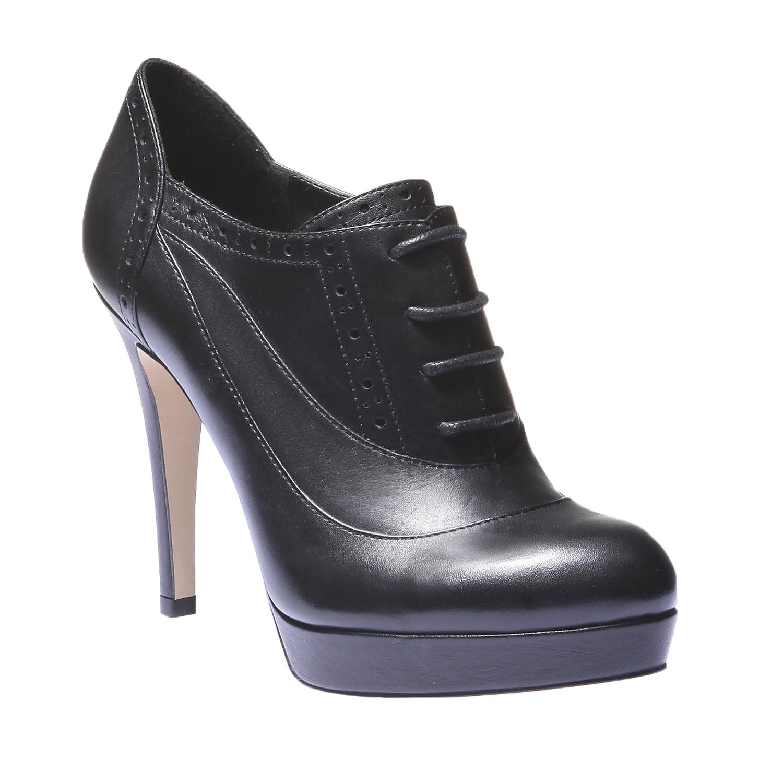Kotníčkové boty s brogue zdobením bata, 2019-724-6797 - 13