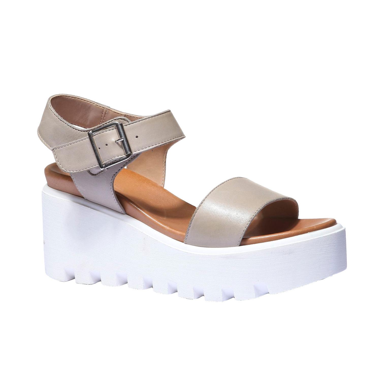 Trendy sandály na flatformě bata, béžová, 2019-764-2274 - 13