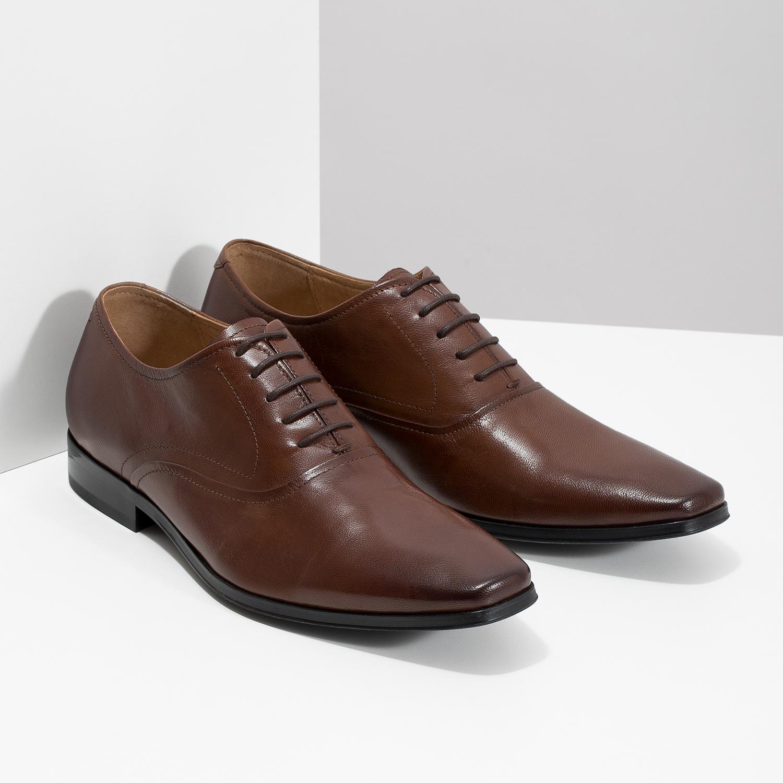 Baťa Hnědé kožené Oxford polobotky - Všechny boty  3e11f715c4