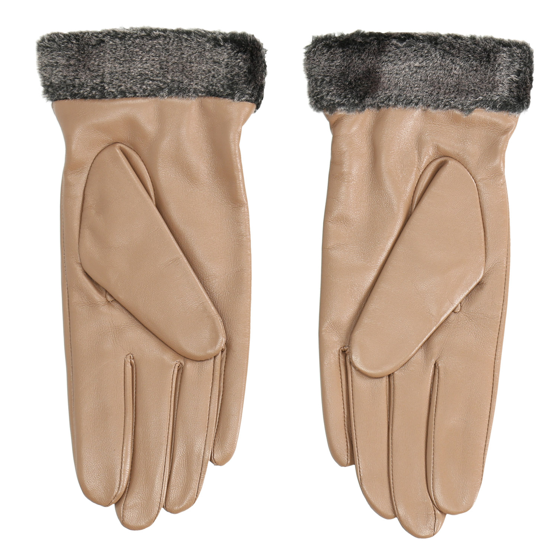 6e9ed258bd1 Baťa Dámské kožené rukavice béžové - Rukavice