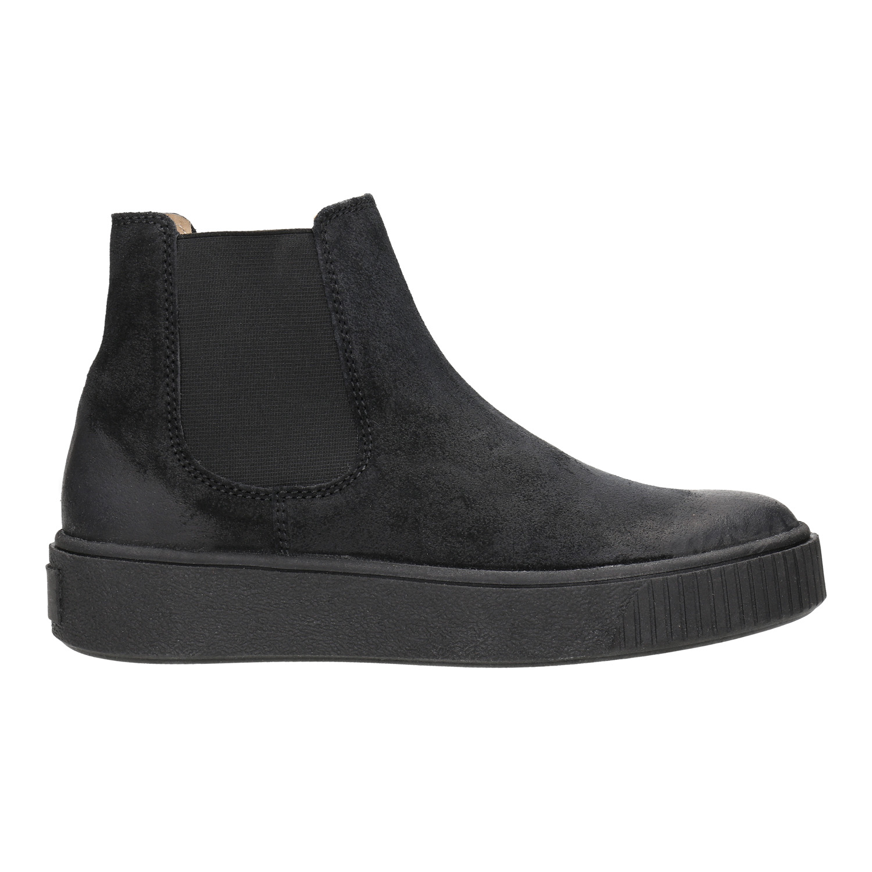 Baťa Dámská kožená kotníčková obuv - Výrazné podešve  04c06ccde7