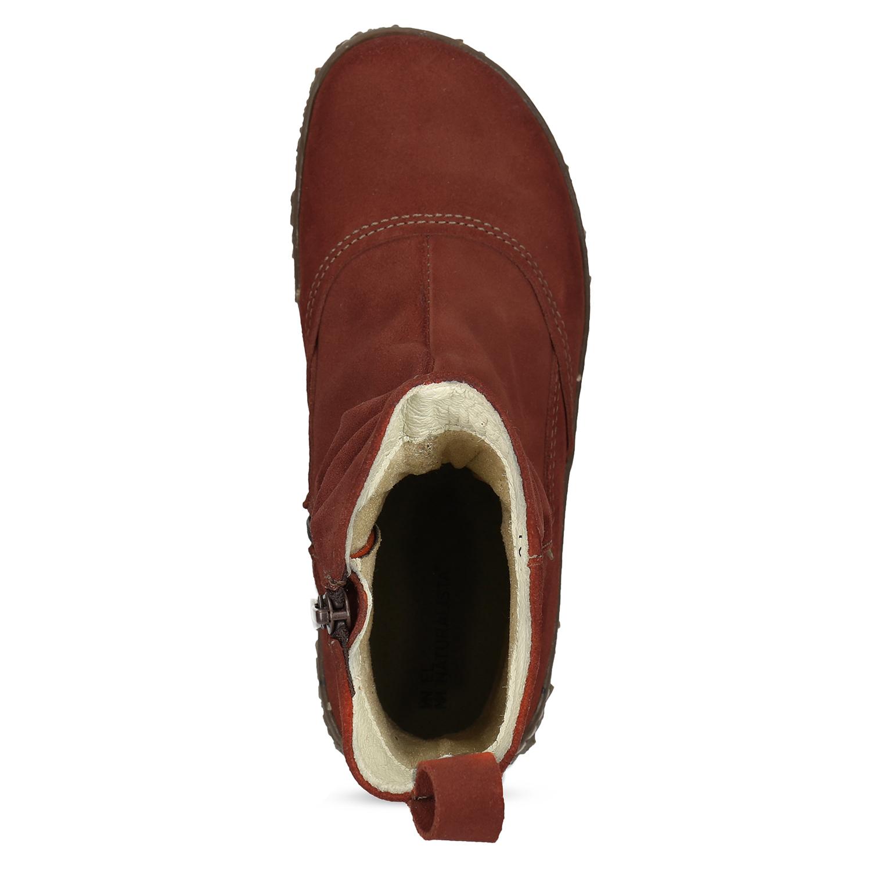 3a6638527 ... Kotníčková kožená obuv v cihlové barvě el-naturalista, červená, ...